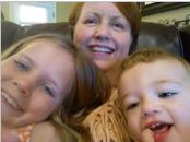 Anne Coleman and children